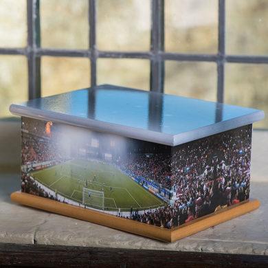 Wooden Casket – Football Stadium