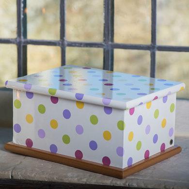Wooden Casket – Spotty