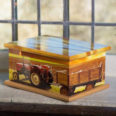 Wooden Casket - Tractor